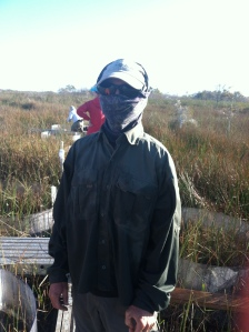 Mike Kline, also ready for the elements. Pahayokee, Everglades National Park.