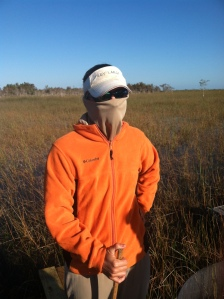 Michelle Robinson, ready for the elements. Pahayokee, Everglades National Park.